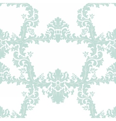 Floral Baroque ornament damask pattern vector