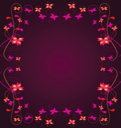 frame with a floral border vector image vector image