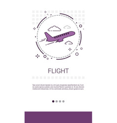 fright plane tickets online booking service banner vector image