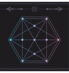 Geometric icon magic 6 vector