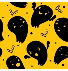 Ghosts Seamless Pattern vector