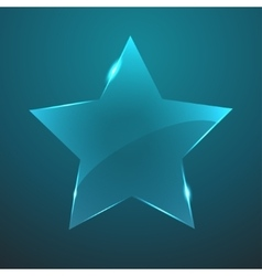 glass star icon Eps10 vector image