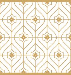 gold geometric minimal seamless pattern vector image