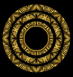 gold round ornament vector image