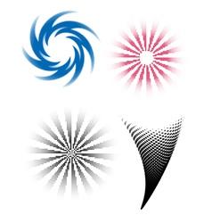 HalftoneTwirls vector image