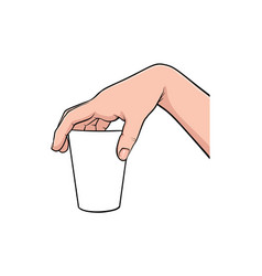 hand gesture comic book pop art isolated vector image
