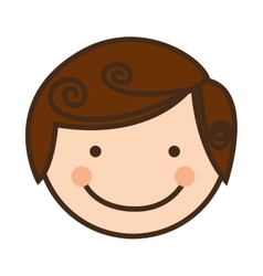 happy child face icon image vector image