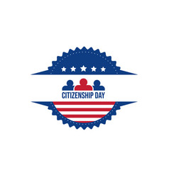 happy citizenship design vector image