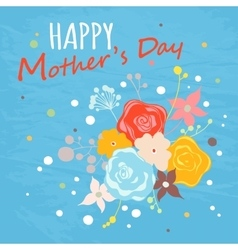 Happy Mothers Day floral greeting card vector