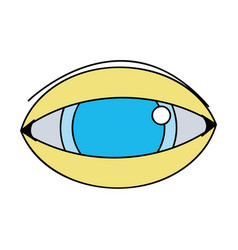Human eye to optical vision icon vector