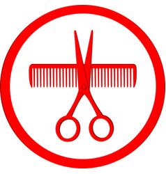 Icon hair salon vector