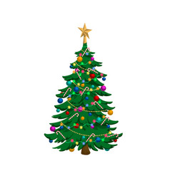 Isolated image christmas tree holiday fir i vector