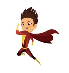 kid dressed as superhero cute superhero kid in vector image