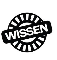 Knowledge stamp in german vector