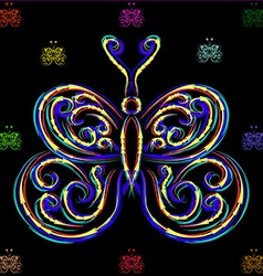 Large and small butterflies vector image