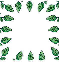 Leaf of plant ecology background design vector