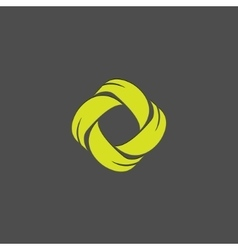 Leafs abstract logo design template Green vector