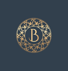 letters b luxury logo template vector image