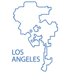Los Angeles map vector image
