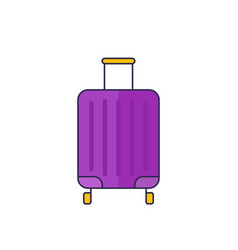 luggage bag icon with outline vector image