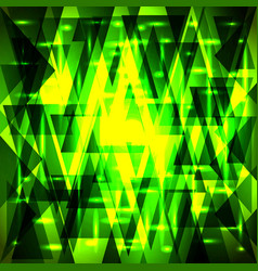 Luxury golden green pattern of shards and vector