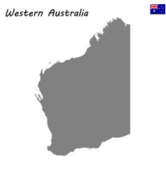 map of western australia is a state of australia vector image