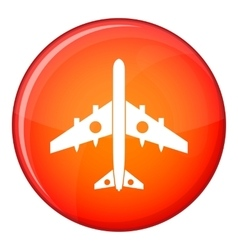 Military fighter plane icon flat style vector