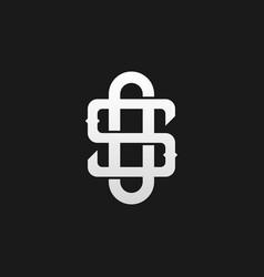 monogram so os s o logo in a modern line style vector image