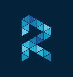 mosaic r logo creative concept vector image