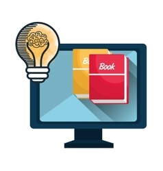 online learning isolated icon design vector image vector image