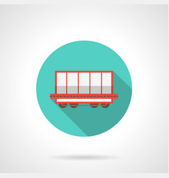 Open boxcar blue round icon vector