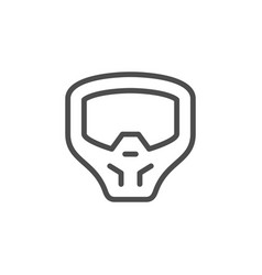 Paintball mask line outline icon vector