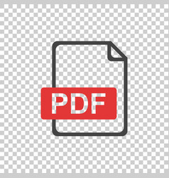 pdf icon on isolated background vector image