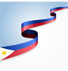 Philippines flag wavy abstract background vector