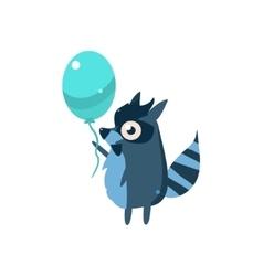 Raccoon Party Animal Icon vector image vector image