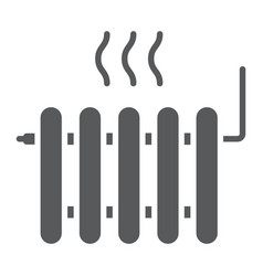 Radiator heating glyph icon real estate and home vector