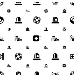 Rescue icons pattern seamless white background vector