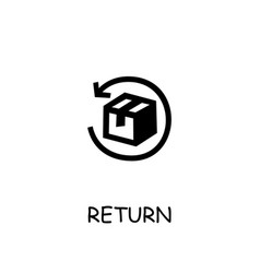 Return parcel flat icon vector
