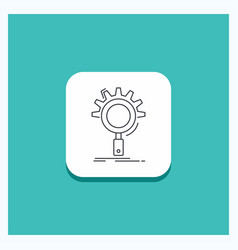 round button for seo search optimization process vector image