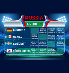 Russia world cup group f wallpaper vector