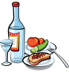 russian vodka bottle vector image