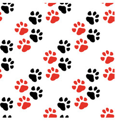 seamless pattern with animal traces vector image