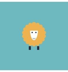 Sheep flat icon vector image