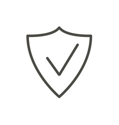 shield icon outline security line protect vector image