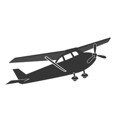 Small airplane flying isolated flat icon vector image