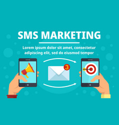 smartphone sms marketing concept banner flat vector image