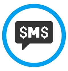 SMS Message Flat Rounded Icon vector image