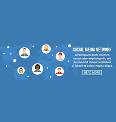 social media network banner horizontal concept vector image