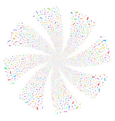 Spanners and wrenches fireworks swirl rotation vector