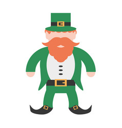 st patricks day leprechaun traditional icon vector image